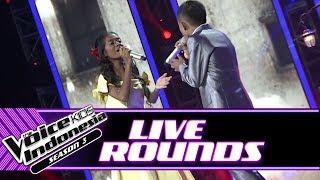 "Jeni dan Joni ""Beauty and The Beast""   Live Rounds   The Voice Kids Indonesia Season 3 GTV"