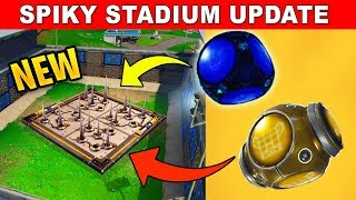 *NEW* UPDATE SPIKY STADIUM AND PORT-A-FORTRESS IN FORTNITE BATTLE ROYALE LIVE GAMEPLAY