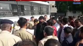 Rajula : Protest Of Workers And Contactors Against Reliance Naval Company