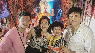 Kaleerein Actress Aditi Sharma With Family Taking Blessing At Lal Baug Cha Raja