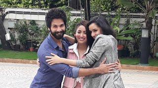Shahid Kapoor, Sharddha Kapoor & Yami Gautam Spotted Promoting Batti Gul Meter Chalu In Mumbai