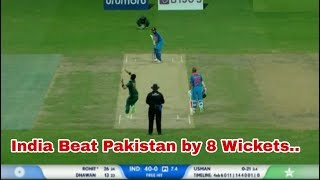 India Vs Pakistan Asia Cup 2018: India Beat Pakistan By 8 Wickets, Match Highlights