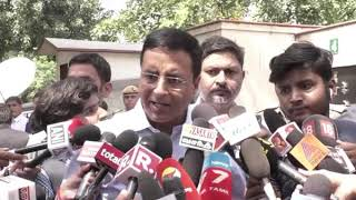 Randeep Singh Surjewala addresses media after meeting of Congress delegation with CAG
