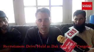 #Recruitment Drive Held at Dak Banglow Tangdar. Report By Tahir Qadoos
