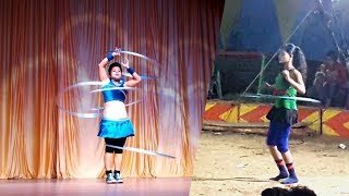 Circus Girl in Delhi   Awesome Ring Dance by Beautiful Delhi Girl   How to do ring dance?