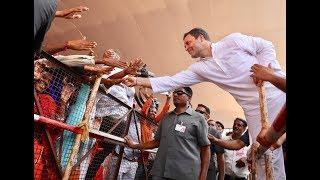 Congress President Rahul Gandhi addresses a gathering in Sagwara, Rajasthan. #AapnoRahulGandhi