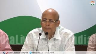 AICC Press Briefing By Abhishek Manu Singhvi at Congress HQ