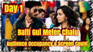Batti Gul Meter Chalu Audience Occupancy, Screen Count And Collection Prediction Day 1
