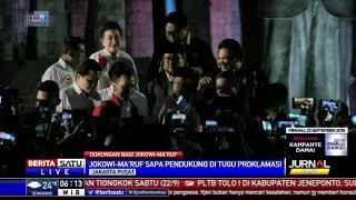 Jokowi-Ma'ruf Sapa Pendukung di Tugu Proklamasi
