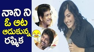 Rashmika Mandanna Warning to Hero Nani | Nagarjuna | Samantha | Devadas Audio Launch | Top Telugu TV