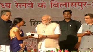 PM Shri Narendra Modi attends Kisan Sammelan, lays foundation stone of projects in Chhattisgarh