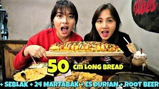 GILAAA, MAKAN SANDWICH 50 CM !!  (+ seblak+ martabak+ es durian+ root beer)