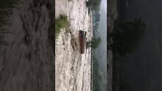 2 इंसान भी बह गए ट्रक में , मनाली बाढ़ | #Manali_flood