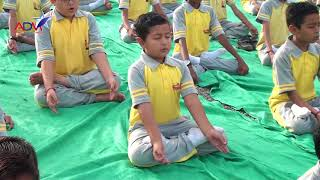World Yoga Day | Nidhi School | Rajkot | Special Coverage By Abtak