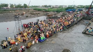 Drone view of Ganesh Visarjan in Surat