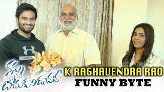 Raghavendra Rao Funny Byte about Nannu Dochukunduvate Movie - Bhavani HD Movies