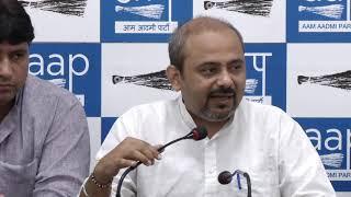 AAP Senior Leader Dilip Pandey Briefs on MCD Scam