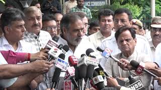 Rafale Scam: Anand Sharma addresses media after meeting of Congress delegation with CVC