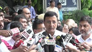 Rafale_Scam__Randeep_Singh_Surjewala_addresses_media_after_meeting_of_Congress