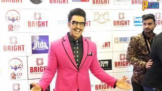 Ranveer Singh In Pink Suit - Bright Awards 2018 & Yogesh Lakhani Birthday Celebration