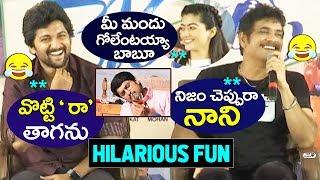 Hilarious Fun at Devadas Press Meet | Nagarjuna, Nani Rashmika, Aakanksha Singh | Top Telugu TV