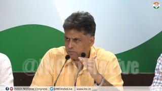 ILFS SCAM: AICC Press Briefing By Manish Tewari at Congress HQ