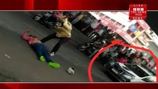 Man hacked to death on busy hyderabad road in front of police दिन-दहाड व्यक्ति  की हत्या