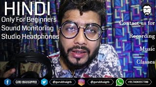 LOW BUDGET HOME STUDIO SOUND MONITORING HEADPHONES Complete Review SAMSON SR850 - HINDI