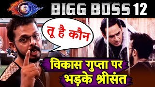 Sreesanth GETS ANGRY On Vikas Gupta, Refuses To Recognise Him | Bigg Boss 12 Update