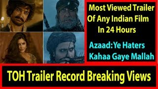 Thugs Of Hindostan Becomes Most Viewed & Liked Trailer In 24 Hours In INDIA I Trollers Kahaan Gaye?