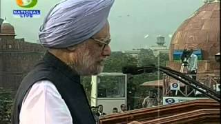 Prime Minister of India, Dr  Manmohan Singh's Address To The Nation On Independence Day part 2