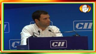 Rahul Gandhi's address at the Confederation of Indian Industry's meet on 4th April 2013