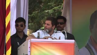 Congress Vice-President Rahul Gandhi Addressing a Public Rally at Mandya, Karnataka