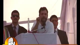 Rahul Gandhi addressing a public rally at Baheri, Bareilly district UP) Dec 29, 2011