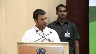 Rahul Gandhi speaking at the Dalit Adhikar Meet at Vigyan Bhawan in New Delhi on Oct 8 2013