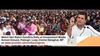 Rahul Gandhi in Balaghat, Madhya Pradesh on Nov 22, 2013