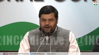 ILFS Scam: AICC Press Briefing By Gaurav Vallabh at Congress HQ