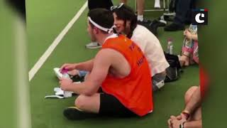 Nick Jonas sweats it out at football court with B-wood celebs