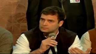 Rahul Gandhi addressing a Press Conference in Muzaffarnagar December 23, 2013