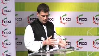 Rahul Gandhi talks about providing jobs to youngsters during his address at FICCI