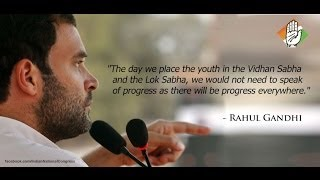 Rahul Gandhi gives voice to the aspirations of India's youth