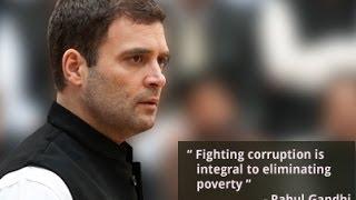 Rahul Gandhi Presents a Framework Against Corruption