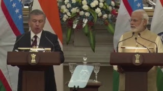 Exchange of Agreements & Press Statement: State Visit of President of Uzbekistan to India