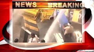 Cops Use Tear Gas Water Cannons As Protesting Farmers Try To Enter Delhi