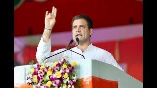 Congress President Rahul Gandhi addresses the Gandhi Sankalp Rally in Wardha