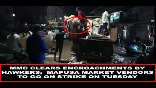MMC Clears Encroachments By Hawkers;  Mapusa Market Vendors To Go On Strike On Tuesday