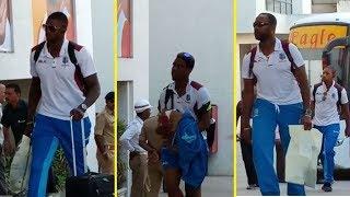 West Indies team arrives in Rajkot