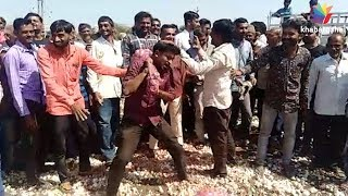 Jamnagar Farmers protests Against not get proper price of onion and garlic