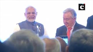 """PM Modi receives """"UNEP Champions of the Earth"""" award"""