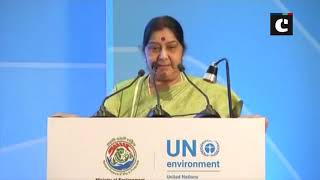 We consider earth as our mother, says EAM Swaraj at UNEP Champions of the Earth Award